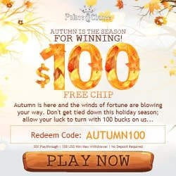Palace of Chance Coupon Codes No Deposit Bonus $100 FREE CHIP