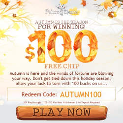 Palace of Chance Coupon Codes No Deposit Bonus $100 FREE CHIP