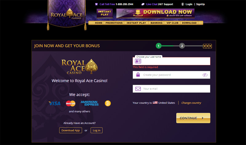 Royal ace no deposit bonus