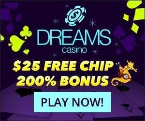 Dreams Casino Bonus Codes $25 No Deposit Bonus