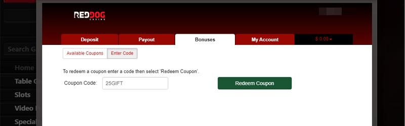 Red Dog Casino No Deposit Bonus Code Deposit Coupon Codes Aug 2020