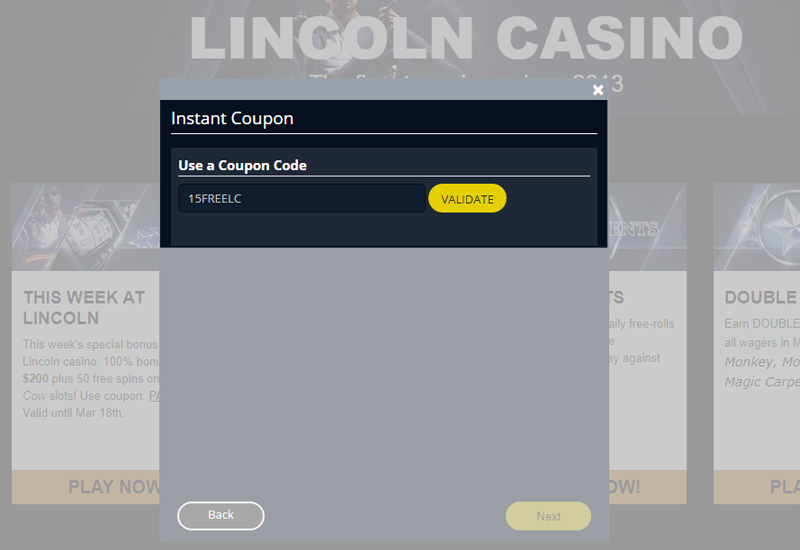 Lincoln Casino No Deposit Codes