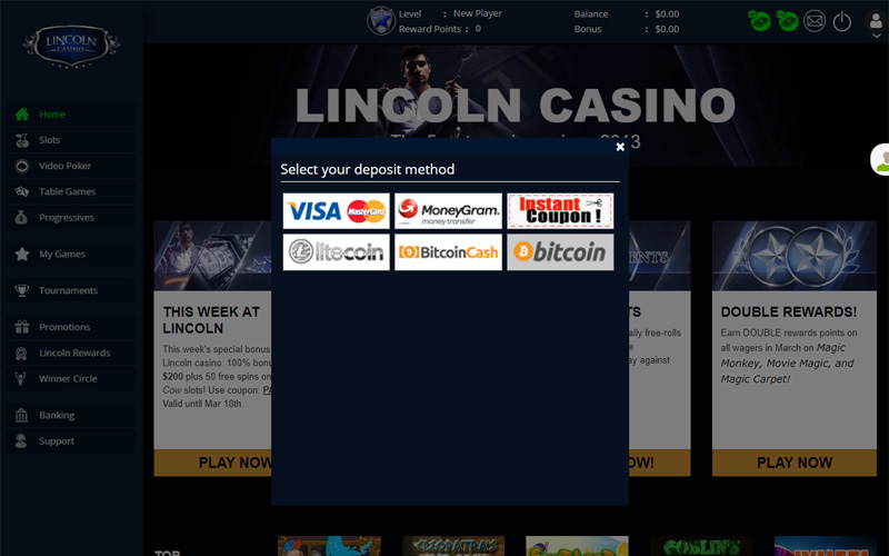 Lincoln Casino No Deposit Bonus And Coupon Codes Aug 2020